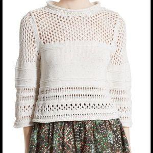 La Vie by Rebecca Taylor crochet knit confetti top